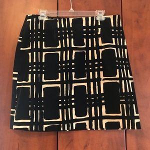 Trina Turk Black and Cream skirt
